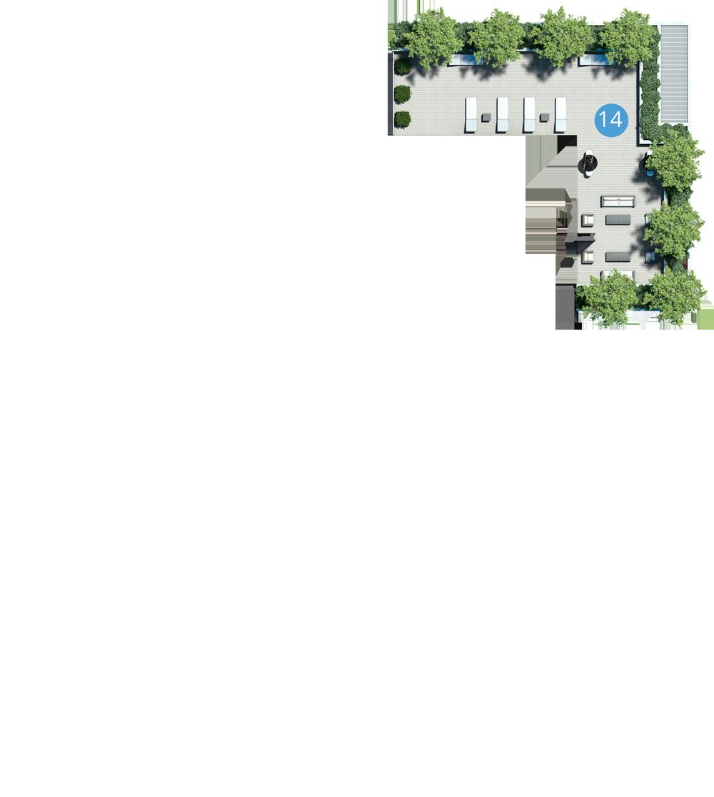 609 Avenue amenities map